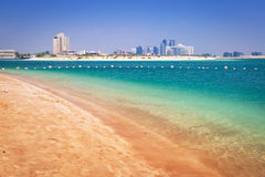 Beach at the Persian Gulf in Abu Dhabi Royalty Free Stock Image
