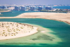 Beach at the Persian Gulf in Abu Dhabi Royalty Free Stock Photography