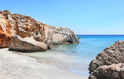 Beach at Petrified Forest Peloponnese Greece Royalty Free Stock Images