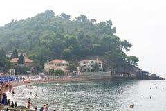 Beach in Petrovac, Montenegro Stock Photos