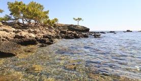 Beach at Phaesalis, Antalya Turkey Royalty Free Stock Photography