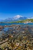 Beach at Phaselis in Antalya, Turkey Royalty Free Stock Images
