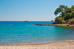 Beach at Phaselis in Antalya, Turkey Stock Image