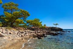 Beach at Phaselis in Antalya, Turkey Royalty Free Stock Photo
