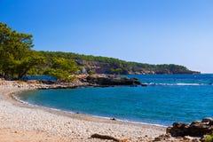 Beach at Phaselis in Antalya, Turkey Stock Photography
