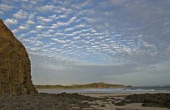 Beach on Philip island. Cloud cover over the beach Stock Photography