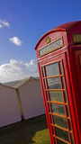 Beach phonebox Royalty Free Stock Images