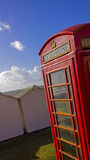 Beach phonebox Stock Images