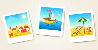 Beach photo cards Royalty Free Stock Photography