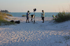 Beach Photo Shoot Stock Photo