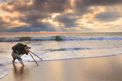 Beach Photographer at Work Stock Photography