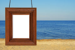 The beach and the photographic frame Stock Photos