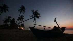 Beach at Phu Quoc island, Kien Giang province, Vietnam. View of seashore in the evening,  Phu Quoc island, Kien Giang province, Vietnam. Phu Quoc is blessed with stock video