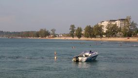 Beach at Phu Quoc island, Kien Giang province, Vietnam. Vinpearl Phu Quoc beach in the morning, Phu Quoc island, Kien Giang province, Vietnam. Phu Quoc is stock video