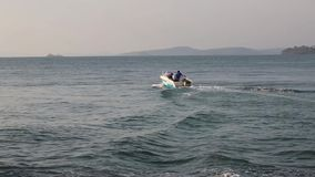 Beach at Phu Quoc island, Kien Giang province, Vietnam. Water sport at Vinpearl Phu Quoc beach, Phu Quoc island, Kien Giang province, Vietnam. Phu Quoc is stock video footage