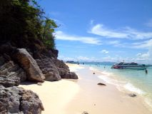 Beach in Krabi Thailand stock photo