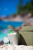 Beach picnic closeup royalty free stock image