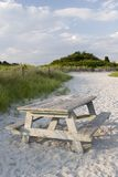 Beach picnic table Stock Image