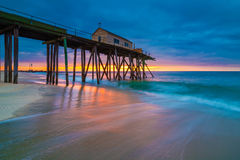 Beach pier. Fishing pier at dawn Royalty Free Stock Photos