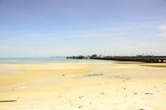 Beach and Pier Royalty Free Stock Photos