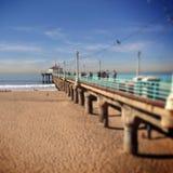 Beach pier. Manhattan Beach California pier Stock Photo