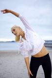 Beach pilates Royalty Free Stock Images