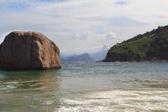 Beach Piratininga Corcovado Niteroi Rio de Janeiro Royalty Free Stock Photography
