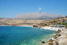 Beach  of Pirgos Dirou Stock Images
