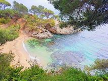 Beach of Platja d Aro, Costa Brava, Spain stock image
