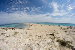Beach Platja de ses Illetes Royalty Free Stock Image