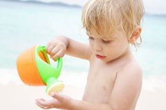 Beach play Royalty Free Stock Photos