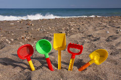 Beach play Stock Images