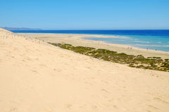 Beach Playa在费埃特文图拉岛,西班牙- 16的de Sotavento 02 2017年 库存图片