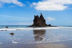Beach playa Benijo, Tenerife island, Spain Royalty Free Stock Photography