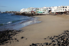 Beach in Playa Blanca, Lanzarote Royalty Free Stock Image