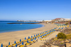 Beach of Playa Blanca Royalty Free Stock Images