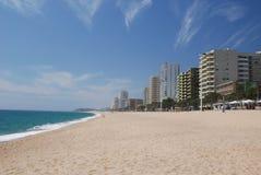 Beach at Playa de Aro Spain. Sunny beach at the coastal holiday reort of Playa de Aro in Spain Stock Photos