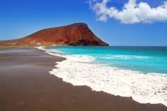 Beach Playa de la Tejita dans Ténérife Photographie stock libre de droits