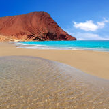 Beach Playa de la Tejita in Tenerife Stock Photography