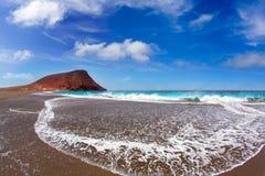 Beach Playa de la Tejita in Tenerife Stock Images