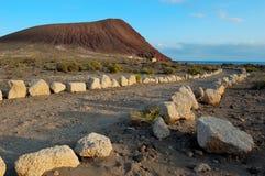 Beach Playa de la Tejita in Teneriffa Lizenzfreies Stockbild