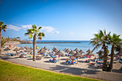 Beach Playa de la Vistas in Tenerife, Spain. Royalty Free Stock Image