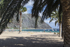 Beach Playa de Las Teresitas in Tenerife Stock Images