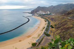 The beach Playa de las Teresitas from Tenerife, Spain Royalty Free Stock Images