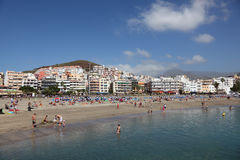Beach Playa de los Cristianos Royalty Free Stock Image