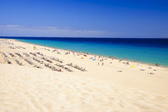 The beach Playa de Morro Jable. Fuerteventura, Spain. stock photos