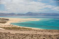 Beach Playa de Sotavento,. Canary Island Fuerteventura, Spain stock photography