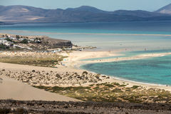 Beach Playa de Sotavento,. Canary Island Fuerteventura, Spain stock photos