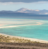 Beach Playa de Sotavento, Canary Island Fuerteventura. Spain royalty free stock photo