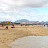 Beach Playa de Sotavento, Canary Island Fuerteventura. Spain stock photography